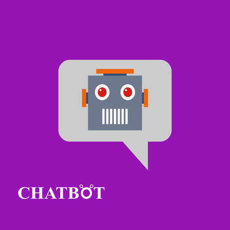 bot: Chatbot icon concept, chat bot or chatterbot