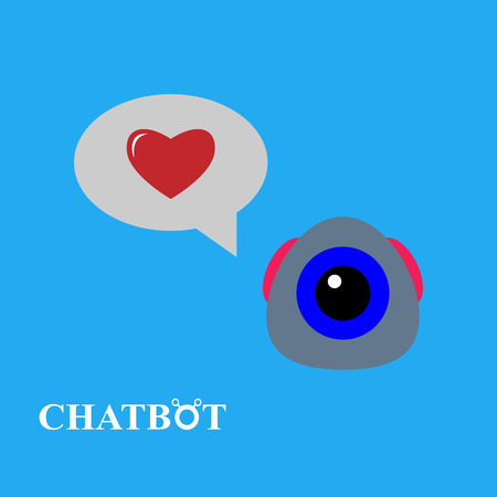 Chatbot illustration, chat bot or chatterbot