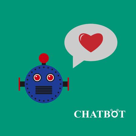 talking robot: Chatbot illustration, chat bot or chatterbot