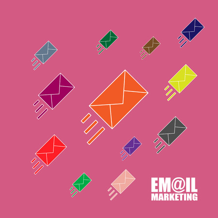 Email marketing vector illustration. Flat style Illustration
