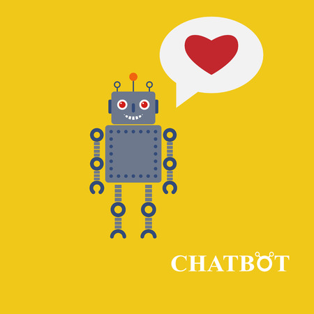 bot: Chatbot vector illustration, chat bot or chatterbot Illustration