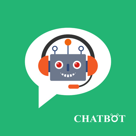 Chatbot icon concept, chat bot or chatterbot Vector Illustration