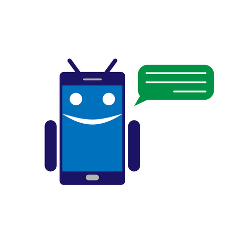 Chatbot or chatterbot vector illustration Illustration