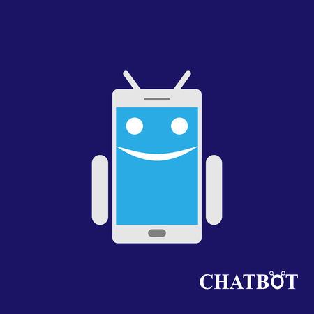 talking robot: Chatbot or chatterbot vector illustration Illustration