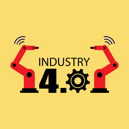 industry design: Industry 4.0 vector illustration