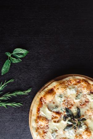 Italian pizza 4 cheese on the Board