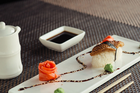 Japanese sushi by the piece