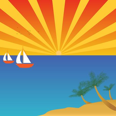 island: Sailing to tropical island