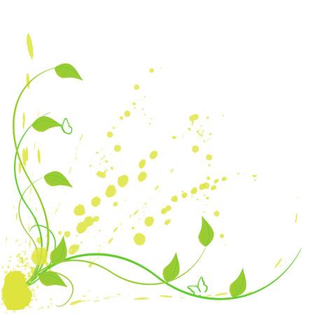 leaf insect: Floral background vector illustration