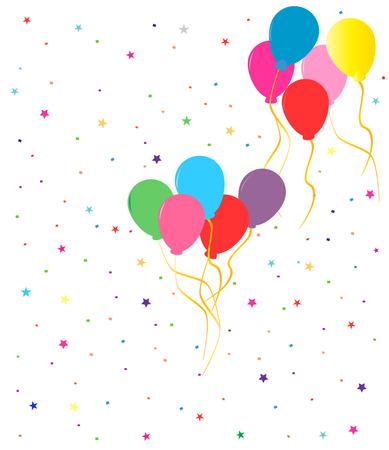 globos de fiesta: Parte coloridos globos Vectores