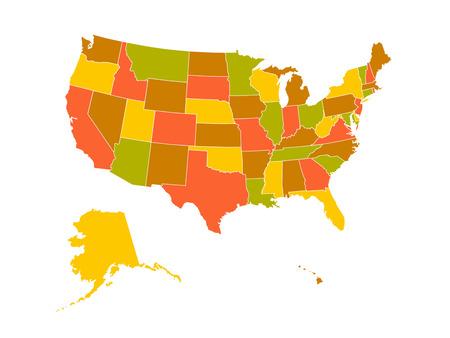 united states: United States map