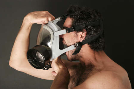 Man with a gas mask Stock Photo - 697161