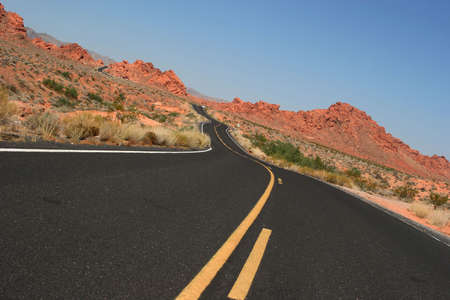 Scenic desert road photo