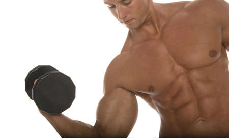 defined: Pumping iron Stock Photo