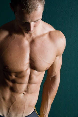 defined: Washboard abs Stock Photo