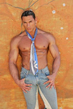 Sexy fashionable male model Stock Photo - 697079