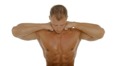 defined: Attractive body builder Stock Photo