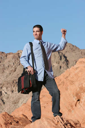 Businessman on the move Stock Photo - 1150144