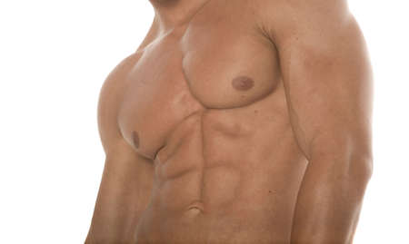 Abs of a muscular man photo