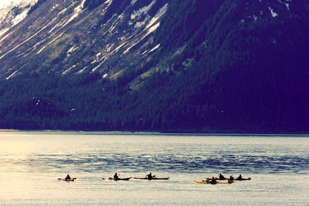 Kayakers at the Resurrection Bay photo