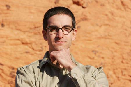 Smart handsome businessman in glasses Stock Photo - 1171676