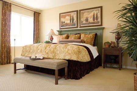Modern tastefully decorated bedroom Stock Photo - 1171683