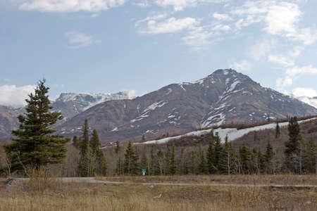 Snow melting on mountains in Alaska Range Stock Photo - 1304672