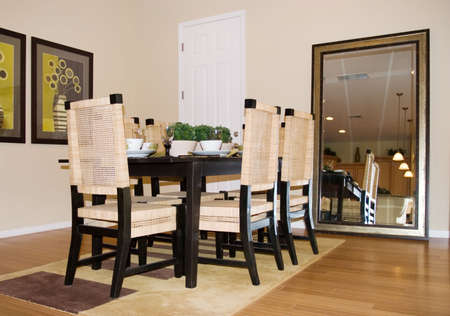 Modern tastefully decorated dining room Stock Photo - 1304681