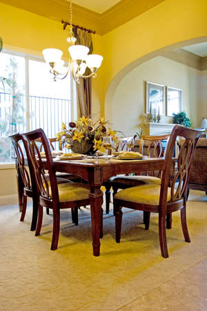 Modern tastefully decorated dining room Stock Photo - 1464697
