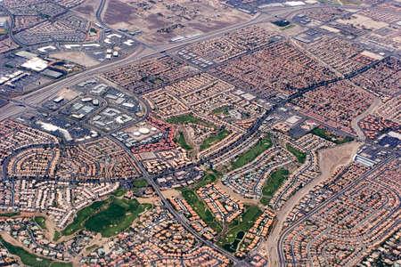 Vista aérea de Las Vegas, Nevada, Foto de archivo - 1478457