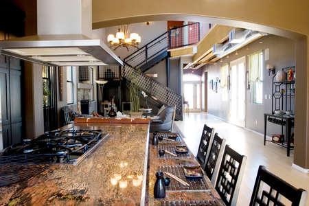 granite: Modern kitchen with granite countertops