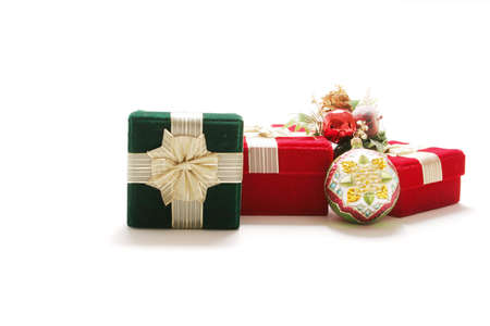 Christmas presents and ornament photo