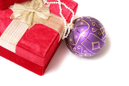 Christmas gift and ornament photo