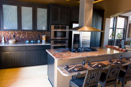 Modern kitchen with granite countertops Stock Photo - 1491564
