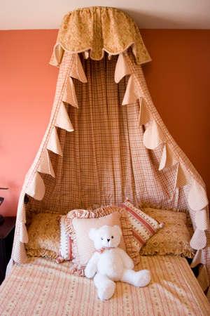 expensive: Modern tastefully decorated childrens bedroom