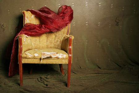 upholster: Old chair