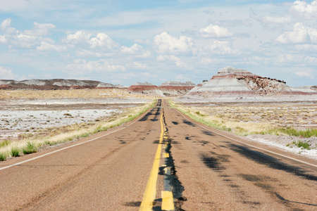 Road to painted desert Stock Photo