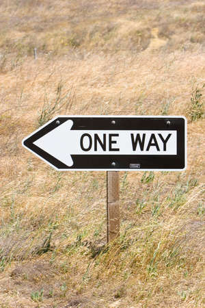 One way road sign Stock Photo - 1544113