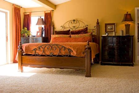 Modern tastefully decorated master bedroom Stock Photo - 1620551