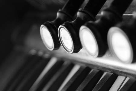 Piano toetsen close-up