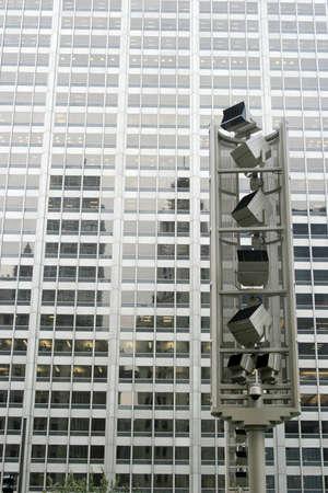 Tall big city skyscraper in Chicago Stock Photo