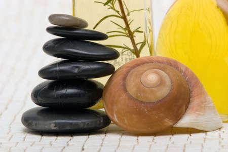 Massage oils and stones