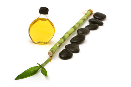 revitalize: Massage stones, essential oils and bamboo