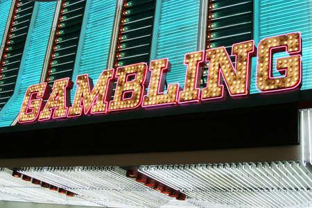 Bright Las Vegas gambling neon sign photo