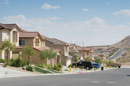 subdivisions: Southwest houses in a neighborhood