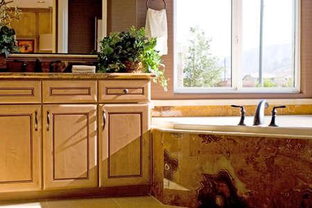 Modern bathroom in a house photo