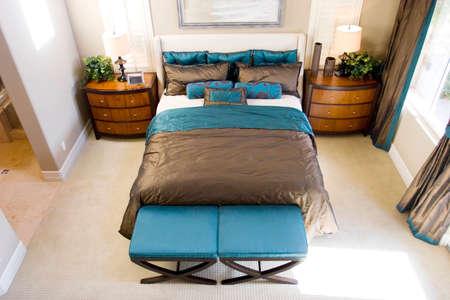 Modern tastefully decorated master bedroom Stock Photo - 1657132