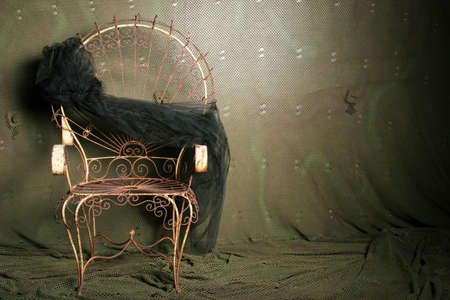 upholster: Old vintage chair Stock Photo