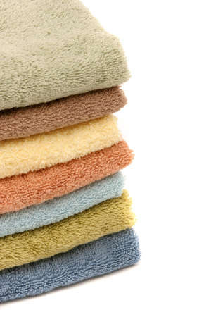 revitalize: Stack of colorful spa towels