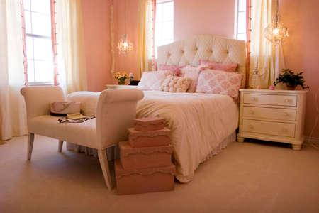 Modern tastefully decorated master bedroom Stock Photo - 1684755